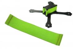 FPV Racing Framestrap (Gummiband mit Laschen für M3 Standoff/Abstandshalter) 160x35mm in grün