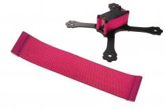 FPV Racing Framestrap (Gummiband mit Laschen für M3 Standoff/Abstandshalter) 160x35mm in pink