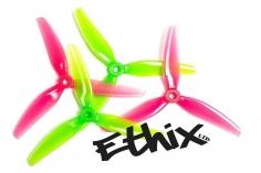 HQ Dreiblatt Propeller Ethix S3 Watermelon in pink und grün aus Poly Carbonate 5x3,1x3 je 2CW+2CCW