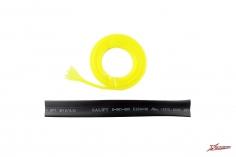 XLPower Ersatzteil Kabelschutz Set 6mm Gewebeschlauch in gelb 1 Meter und 10mm Schrumpfschlauch in schwarz 15mm für XL Power 700