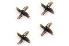 Happymodel Propeller Set 4Blatt 40mm für 1mm Welle in schwarz für Mobula7 Whoop 75mm 2S