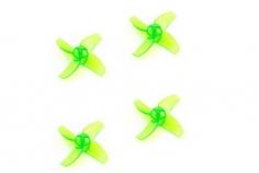 Happymodel Propeller Set 4Blatt 40mm für 1mm Welle in grün für Mobula7 Whoop 75mm 2S