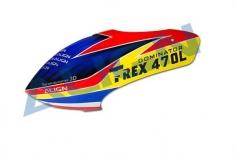 Align Kabinenhaube gelb/rot/blau für T-REX 470L Dominator