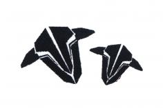 TBS Logo Patch 2 Stück in zwei Größen zum Aufbügeln auf Textilien