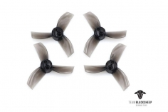 TBS Micro brushless 3 Blatt Propeller Set 40mm 2xCW 2xCCW für 1mm Welle in transparent schwarz