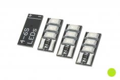 Mini Tiny LED 4-6S mit 3LED´s 4 Stück in grün