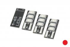 Mini Tiny LED 4-6S mit 3LED´s 4 Stück in rot