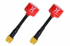 Foxeer Lollipop 2 FPV Antennen Set AXII RHCP SMA (mit Pin) mit in rot 2 Stück