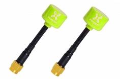 Foxeer Lollipop 2 FPV Antennen Set AXII RHCP SMA (mit Pin) mit in neon gelb 2 Stück