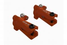 OXY Ersatzteil Heckrotorblatthalter in orange für OXY3 Tareq Edition