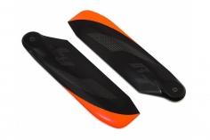 RotorTech Heckrotorblätter 106mm in schwarz mit orangener Spitze
