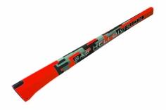 Heckrohr im rotem Havok Design für Goblin 570 Sport