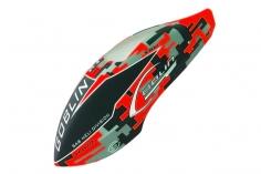 Kabinenhaube im rotem Havok Design für Goblin 570 Sport