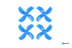 BetaFPV 4 Blatt Propeller Set 40mm für 1mm Welle in blau für Beta75 PRO2 2S