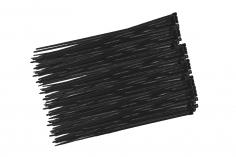 Kabelbinder mit sehr feinem Raster 200x2,7mm 100Stück in schwarz