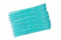 Kabelbinder mit sehr feinem Raster 200x2,7mm 100Stück in hell blau