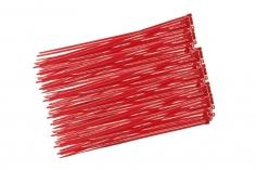 Kabelbinder mit sehr feinem Raster 200x2,7mm 100Stück in rot