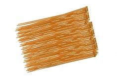Kabelbinder mit sehr feinem Raster 200x2,7mm 100Stück in orange