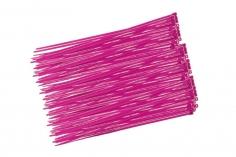 Kabelbinder mit sehr feinem Raster 200x2,7mm 100Stück in pink