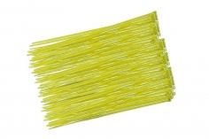 Kabelbinder mit sehr feinem Raster 200x2,7mm 100Stück in gelb