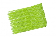 Kabelbinder mit sehr feinem Raster 200x2,7mm 100Stück in hell grün