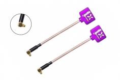 Foxeer Lollipop 2 FPV Antennen Set AXII RHCP MMCX mit 90° Winkel in violette 2 Stück