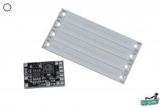 Menace FPV Cob Led´s (4 Stück / 60x8x1,9mm) und Controller für 4-6S in weiß