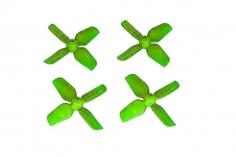HQ Micro Whoop Vierblatt Propeller 1,6x1,6x4 (40mm) je 2 Stück CW und CCW für 1mm Welle in grün
