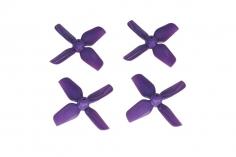 HQ Micro Whoop Vierblatt Propeller 1,6x1,6x4 (40mm) je 2 Stück CW und CCW für 1mm Welle in violette