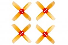 Gemfan Hulkie 4 Blatt Propeller 2 Zoll 2036 / 2X3.6X4 für 1,5mm Welle je 4x CW und 4x CCW in orange transparent
