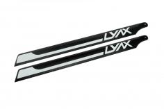 Lynx Hauptrotorblätter in weiß/schwarz 287mm