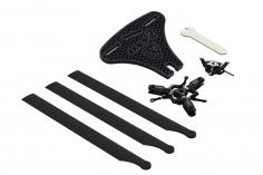 OXY Ersatzteil 3-Blatt Rotorkopf Komplett Set in schwarz für OXY2