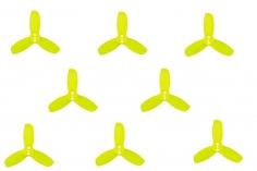 Gemfan Hulkie 3 Blatt Propeller 1,9 Zoll 1940 / 1,9X4X3 für 1,5mm Welle je 4x CW und 4x CCW in gelb transparent
