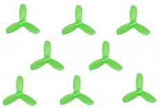 Gemfan Hulkie 3 Blatt Propeller 1,9 Zoll 1940 / 1,9X4X3 für 1,5mm Welle je 4x CW und 4x CCW in grün transparent