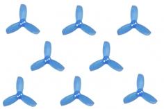 Gemfan Hulkie 3 Blatt Propeller 1,9 Zoll 1940 / 1,9X4X3 für 1,5mm Welle je 4x CW und 4x CCW in blau transparent