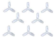 Gemfan Hulkie 3 Blatt Propeller 1,9 Zoll 1940 / 1,9X4X3 für 1,5mm Welle je 4x CW und 4x CCW in transparent