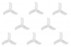 Gemfan Hulkie 3 Blatt Propeller 2 Zoll 2040 / 2X4X3 für 1,5mm Welle je 4x CW und 4x CCW in transparent