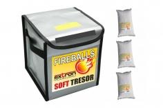 Fireballs Brandschutz Feuerlöschgranulat für Lithium Akkus im Combi Pack Soft Tressor und 3x 1 Liter