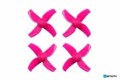 BetaFPV 4 Blatt Propeller Set 40mm für 1,5mm Welle in pink für Beta75X 2S