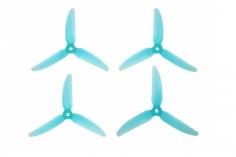 HQ Durable Prop Propeller 4x3x3 aus Poly Carbonate in blau transparent je 2CW+2CCW