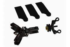 OXY Ersatzteil 3-Blatt Heckrotorkopf Komplet-Set in schwarz für den OXY3