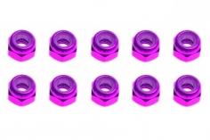 M3 Stoppmutter aus Alu in violette eloxiert CW 10 Stück
