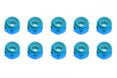 M3 Stoppmutter aus Alu in hell blau eloxiert CW 10 Stück
