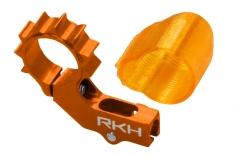Rakonheli 6mm Heckmotorhalterung Alu in orange für 2mm Heckrohr für Blade mSR X/S, mCP X/V2/S, Nano CPX/CPS/S2