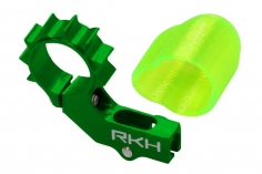 Rakonheli 6mm Heckmotorhalterung Alu in grün für 2mm Heckrohr für Blade mSR X/S, mCP X/V2/S, Nano CPX/CPS/S2