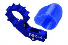 Rakonheli 6mm Heckmotorhalterung Alu in blau für 2mm Heckrohr für Blade mSR X/S, mCP X/V2/S, Nano CPX/CPS/S2, mSRS860-O