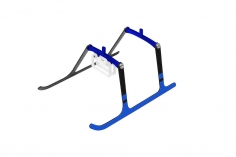Rakonheli Landegestell Carbon in blau für Blade Nano S2