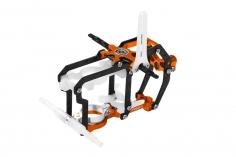 Rakonheli Hauptrahmen aus Carbon in orange für Blade Nano S2