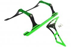 Rakonheli Landegestell und Leitwerk Set aus Carbon in grün für Blade 230 S und 230 S V2