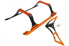Rakonheli Landegestell und Leitwerk Set aus Carbon in orange für Blade 230 S und 230 S V2